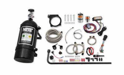 Dodge Ram Engine Performance - Dodge Ram Nitrous System - NOS - NOS Plate Wet Nitrous Kit (Black Bottle): Challenger / Charger / Jeep 6.2L SRT Hellcat / Trackhawk 2015 - 2021