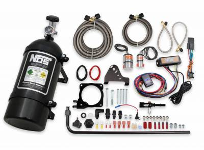 Dodge Ram Engine Performance - Dodge Ram Nitrous System - NOS - NOS Plate Wet Nitrous Kit (Black Bottle): Chrysler / Dodge / Jeep / Ram 6.4L 392 2011 - 2021