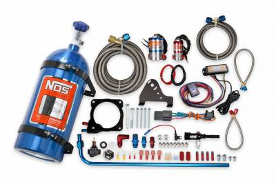Dodge Ram Engine Performance - Dodge Ram Nitrous System - NOS - NOS Plate Wet Nitrous Kit (Blue Bottle): Chrysler / Dodge / Jeep / Ram 6.4L 392 2011 - 2021