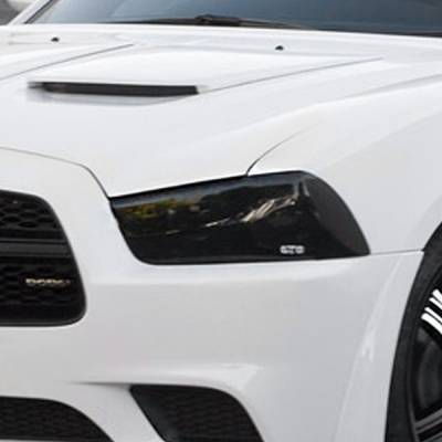 Dodge Charger Exterior Parts - Dodge Charger Light Covers - GT Styling - GT Styling Smoke Headlight Covers: Dodge Charger 2011 - 2014