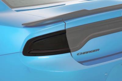 Dodge Charger Exterior Parts - Dodge Charger Light Covers - GT Styling - GT Styling Smoke Tail Light Covers: Dodge Charger 2015 - 2021