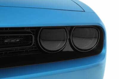 HEMI LIGHTING PARTS - Hemi Blackout Covers - GT Styling - GT Styling Smoke Headlight Covers: Dodge Challenger 2015 - 2021