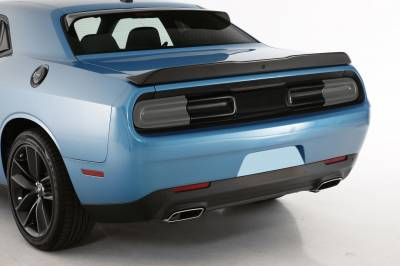 HEMI LIGHTING PARTS - Hemi Blackout Covers - GT Styling - GT Styling Smoke Rear Center Panel Cover: Dodge Challenger 2015 - 2021