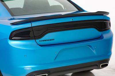 Dodge Charger Exterior Parts - Dodge Charger Light Covers - GT Styling - GT Styling Smoke Rear Center Panel & Tail Light Covers (SET): Dodge Charger 2015 - 2021