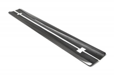 Anderson Composites Carbon Fiber Side Skirts (PAIR): Dodge Charger Widebody 2015 - 2021 (Hellcat & ScatPack Models)
